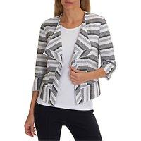 Betty Barclay Textured Stripe Jacket, White/Black