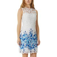 Damsel in a dress Amily Boarder Dress, White/Blue
