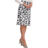 Betty Barclay Printed Midi Skirt, White/Grey