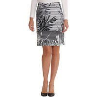 Betty Barclay Fern Leaf Print Skirt, White/Black