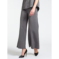 Bruce by Bruce Oldfield Faconne Wide Leg Trousers, Grey