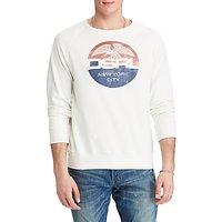 Denim & Supply Ralph Lauren Cotton Graphic Sweatshirt, Antique White