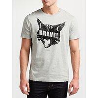 Diesel T-Joe QC T-Shirt, Light Grey Melange