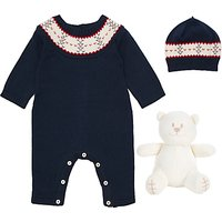 Emile et Rose Fairisle All-in-One 3 Piece Set, Navy
