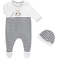 Emile et Rose All-in-One Jersey Three Piece Set, Navy/White