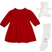 Emile et Rose Knit Dress and Tights, Red