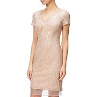 Adrianna Papell Plus Size Sequin Cocktail Dress, Blush/Nude