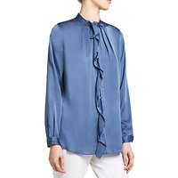 Winser London Silk Ruffle Shirt