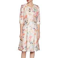 Gina Bacconi Metallic Print Jacquard Jacket, Spring Blossom