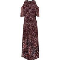 L.K. Bennett Shauna Exposed Shoulder Silk Dress, Multi