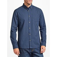 John Lewis Dobby Cotton Shirt, Navy