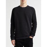 Kin by John Lewis Reverse Sleeve Sweatshirt, Black