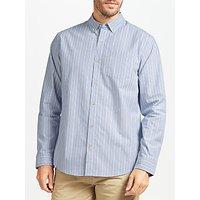 John Lewis End on End Stripe Shirt, Blue