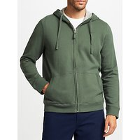 John Lewis Cotton Pigment Dyed Hoodie, Green