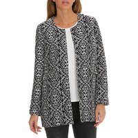Betty Barclay Textured Woven Coat, Dark Blue/Grey