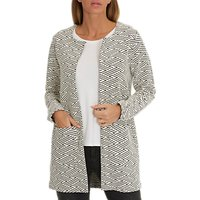 Betty Barclay Textured Woven Jacket, Dark Blue/Grey