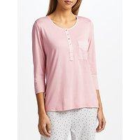 John Lewis Henley Pyjama Top, Pink