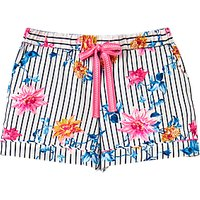 Joules Tali Clematis Pyjama Shorts, Cream/Multi