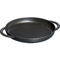 STAUB Cast Iron Round Pure Grill Pan, Black