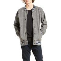 Levis Fleece Bomber Jacket, Grey Heather/Dress Blues