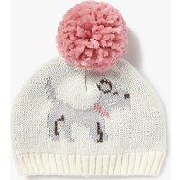 John Lewis Baby Intarsia Dog Hat, Cream
