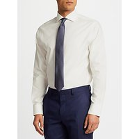 John Lewis Non Iron Dobby Tailored Fit Shirt, Ivory