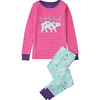 Hatley Childrens Bearly Awake Appliqu Pyjamas, Turquoise