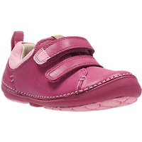 Clarks Childrens Softly Hen First Shoes, Pink