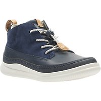Clarks Childrens Cloud Air Shoes, Navy