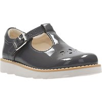 Clarks Childrens Crown Wish Mary Jane Leather School Shoes, Grey