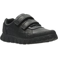 Clarks Childrens Tyrex Ride Leather School Shoes, Black