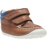 Clarks Childrens Tiny Tuktu Leather Shoes, Brown
