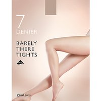 John Lewis 7 Denier Barely There Tights  Pack of 1