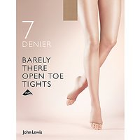 John Lewis 7 Denier Barely There Open Toe Tights  Pack of 1