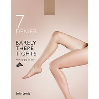 John Lewis 7 Denier Barely There Non Slip Tights  Pack of 1