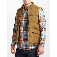JOHN LEWIS & Co. Canvas Gilet, Brown