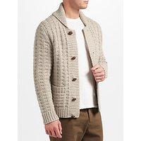 JOHN LEWIS & Co. Hand Knit Cardigan, Grey