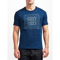 JOHN LEWIS & Co. Printed T-Shirt, Indigo