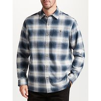 John Lewis Jeans Check Soft Flannel Shirt, Blue