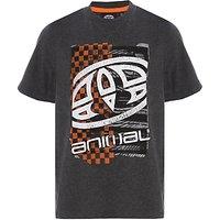 Animal Boys Printed T-Shirt, Charcoal