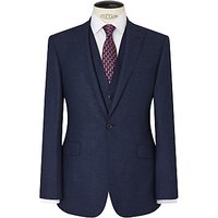 Richard James Mayfair Speckled Wool Flannel Slim Suit Jacket, Indigo