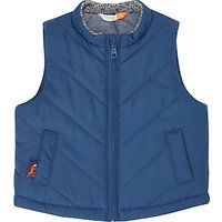 John Lewis Baby Chambray Lined Gilet, Navy