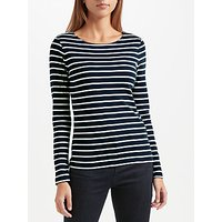 John Lewis Boat Neck Stripe Long Sleeve T-Shirt