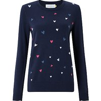 Collection WEEKEND by John Lewis Heart Intarsia Jumper, Navy/Multi