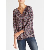 Collection WEEKEND by John Lewis Paint Brush Floral Top, Multi