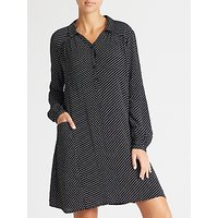 Collection WEEKEND by John Lewis Micro Floral Print Shirt Dress, Black/White