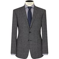 Richard James Mayfair Jaspe Check Wool Slim Suit Jacket, Grey