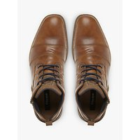 Dune Captain Toecap Boots, Tan
