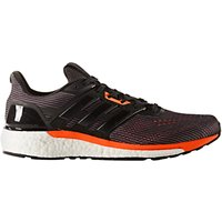 Adidas Supernova Mens Running Shoes, Black/Solar Orange