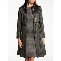Bruce by Bruce Oldfield Chevron Dress Coat, Metallic